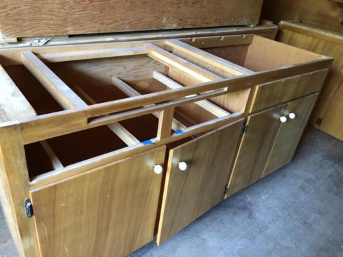 1. old cabinets