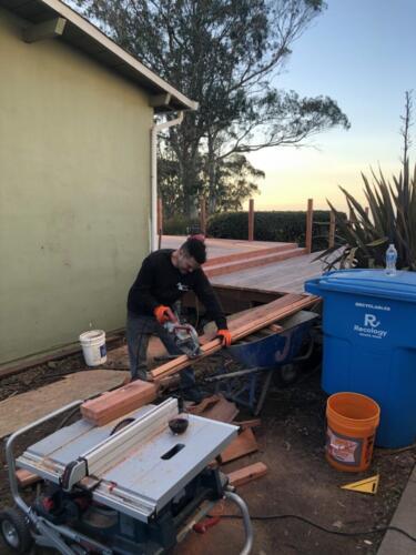 2. anitas deck mark sawing deck board