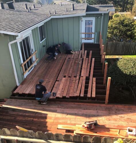 5. Anitas deck laying boards