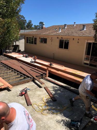 Spruce Court deck in progress